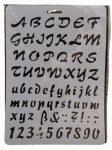 Stencil A4, írott betűk