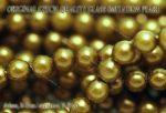 Teklagyöngy, zöldföld 4mm, 36-39 db / szál