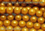 Teklagyöngy, világos topáz 6mm, 23-25 db /szál