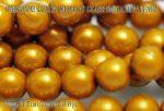 Teklagyöngy, világos topáz 8mm, 18-19 db / szál