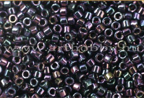 Delica gyöngy 11/0, DB0004, szivárványos bíbor, 4g