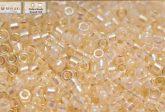 Delica gyöngy 11/0, DB0052, törtfehér közepű kristály AB, 4g