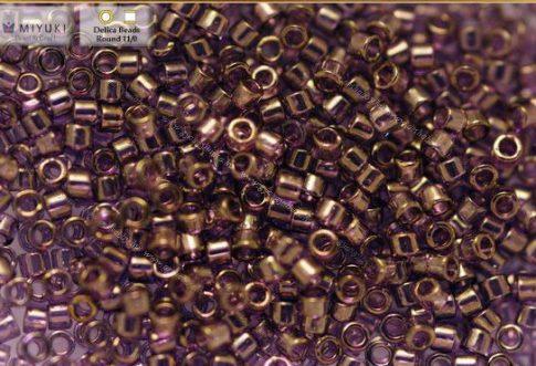 Delica gyöngy 11/0, DB0117, levendula kékes-arany lüszterrel, 4g