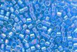 Delica gyöngy 11/0, DB0177, átlátszó tenger kék AB, 4g