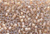 Delica gyöngy 11/0, DB0907, ragyogó világos bronz közepű kristály, 4g