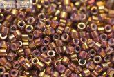 Delica gyöngy 11/0, DB1010, lüszteres metál batikolt Föld, 4g