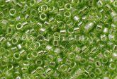 Delica gyöngy 11/0, DB1226, átlátszó fényes lime zöld, 4g