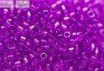 Delica gyöngy 11/0, DB1315, átlátszó festett ibolya, 4g