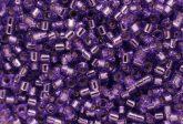 Delica gyöngy 11/0, DB1347, ezüst közepű lila, 4g