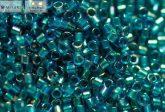 Delica gyöngy 11/0, DB1764, smaragdzöld közepű AB, 4g