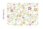 Stencil D méret 20x15cm - Indák és virágok KSD107