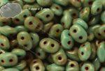 Superduo, türkiz foltokban barna bevonattal, 10g