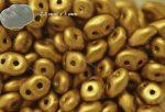 Superduo, matt antik arany, 10g