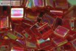 Miyuki TILA gyöngy, átlátszó piros AB, 30 db