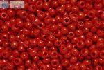 Japán kása 6/0, telt cseresznye piros, 10g