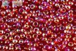 Japán kása 11/0, átlátszó, szivárványos sötét rubint, 10g