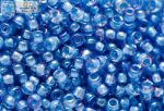 Japán kása 11/0, telt kék közepű világos zafírkék
