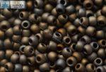 Japán kása 11/0, matt metál irrizáló barna, 10g