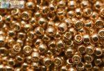 Japán kása 11/0, tartós bevonat, galvanizált rose gold, 10g