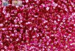 Japán kása 15/0, ezüstközepű pink, 5g