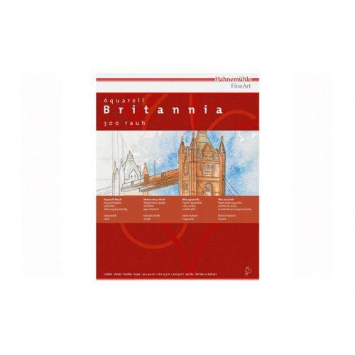 Hahnemühle Britannia akvarell matt blokk 30x40cm 12lap, 300g/m2 finom szemcsés, savmentes