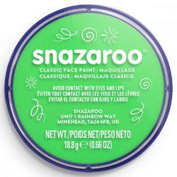 Snazaroo arcfesték, 18ml, lime green