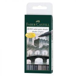 Faber-Castell Pitt művész filc B 6db föld szín