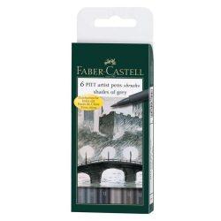 Faber-Castell Pitt művész filc B 6db szürke árnyalat
