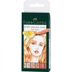 """Faber-Castell Pitt művész filc 6db """"brush""""testszín"""