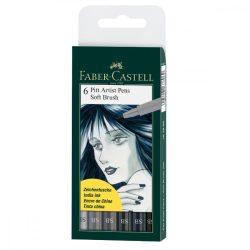 Faber-Castell Pitt művész filctoll MANGA BLACK 4db