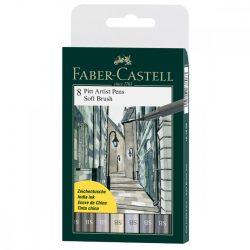 Faber-Castell Pitt művész filctoll 8db-os SB (szürkeárnyalatok)