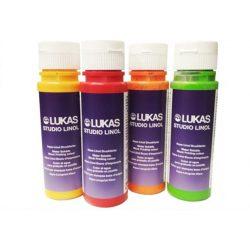 Lukas Studio Linol linóleum festék, vizesbázisú 200ml - kárminpiros