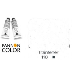 Pannoncolor akrilfesték, titánfehér 110/1, 38ml