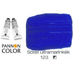 Pannoncolor akrilfesték, sötét ultramarinkék 123/1, 38ml
