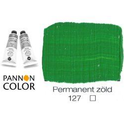 Pannoncolor akrilfesték, permanens zöld 127/1, 38ml