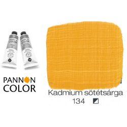 Pannoncolor akrilfesték, kadmium sötét sárga 134/2, 38ml