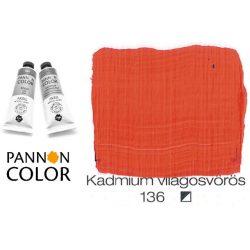 Pannoncolor akrilfesték, kadmium világos vörös 136/2, 38ml