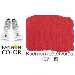 Pannoncolor akrilfesték, kadmium sötét vörös 137/2, 38ml