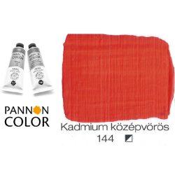 Pannoncolor akrilfesték, kadmium közép vörös 144/2, 38ml