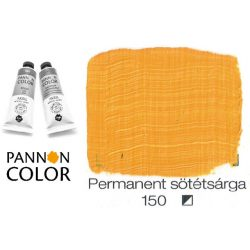 Pannoncolor akrilfesték, permanens sötét sárga 150/1, 38ml