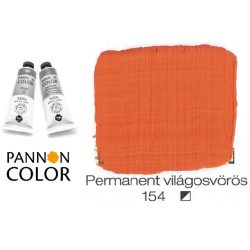 Pannoncolor akrilfesték, permanens világos vörös 154/1, 38ml