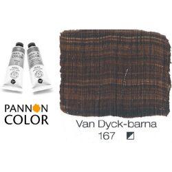 Pannoncolor akrilfesték, Van Dycke barna 167/1, 38ml