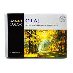 Pannoncolor olajfesték mesterkészllet 12szín+6db kiegészítő