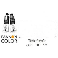 Pannoncolor olajfesték, titánfehér 801/1, 38ml*