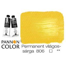 Pannoncolor olajfesték, permanent világossárga 806/1, 38ml ***