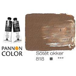 Pannoncolor olajfesték, sötét okker 818/1, 38ml*