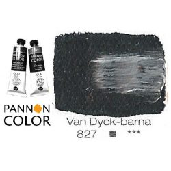 Pannoncolor olajfesték, Van Dycke-barna 827/2, 38ml