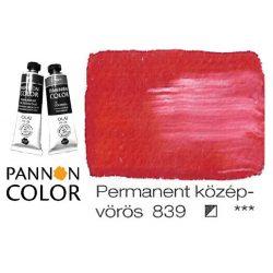 Pannoncolor olajfesték, permanent középvörös 839/1, 38ml **