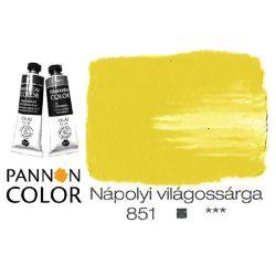 Pannoncolor olajfesték, nápolyi világossárga 851/3, 38ml*