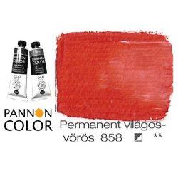 Pannoncolor olajfesték, permanent világosvörös 858/2, 38ml **